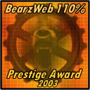 Bearz Web Prestige Award